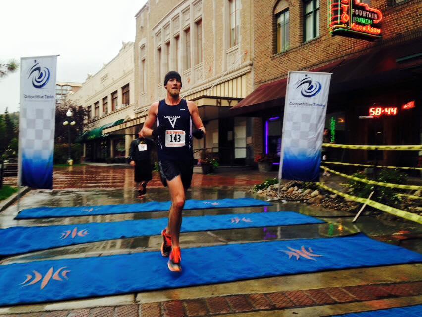 2015 winner Michael Kaiser on an unusually rainy day