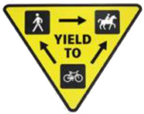 yield to horses sign